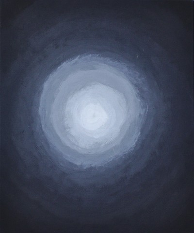Light in a gloomy darkness - painting